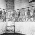 Marienkirche Berlin, Turmhalle, Totentanz-Wandmalerei, Ausschnitt, Blick nach Nordwesten, im Zustand der Übermalung des 19. und frühen 20. Jh., Foto 1945-1950 (© Mariengemeinde)