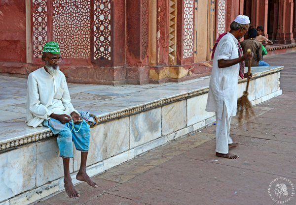 Indien-Exkursion 2014, Fatehpur Sikri, People, Foto: Barbara Herrenkind