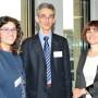 Mediathek Studioausstellung, Dr. Maddalena Vaccaro (Salerno, links) im Gespräch mit Kollegen, Foto: Aila Schultz