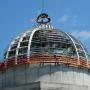 Richtfest: Humboldt Forum, Kuppel mit Richtkranz, Foto: Aila Schultz