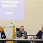 Tagung: Don´t touch touch screen, Steffen Haug, Thomas Hirschhorn , Prof. Hartmut Böhme, April 2015, Foto: Barbara Herrenkind