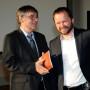Festveranstaltung, 65. Geburtstag Prof. Dr. Ulrich Reinisch, Prof. Ulrich Reinisch und Dr. Christoph Bayer, Foto: Andreas Baudisch