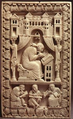Heiliger Gregor mit den Schreibern, Wien, Kunsthistorisches Museum