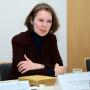 Pressekonferenz Galileo's O III, Prof. Irene Brückle, Foto: Barbara Herrenkind