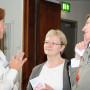 """Symposium """"Altersfragen, Altersbilder und Generationengerechtigkeit"""", Prof. Dr. Charlotte Klonk, Dr. Sonja Kießling und Maria Conze, Foto: Andreas Baudisch"""