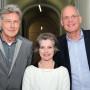 Absolventenfeier, Prof. Michael Diers, Dr. Tina Zürn und Prof. Kai Kappel, Foto: Andreas Baudisch