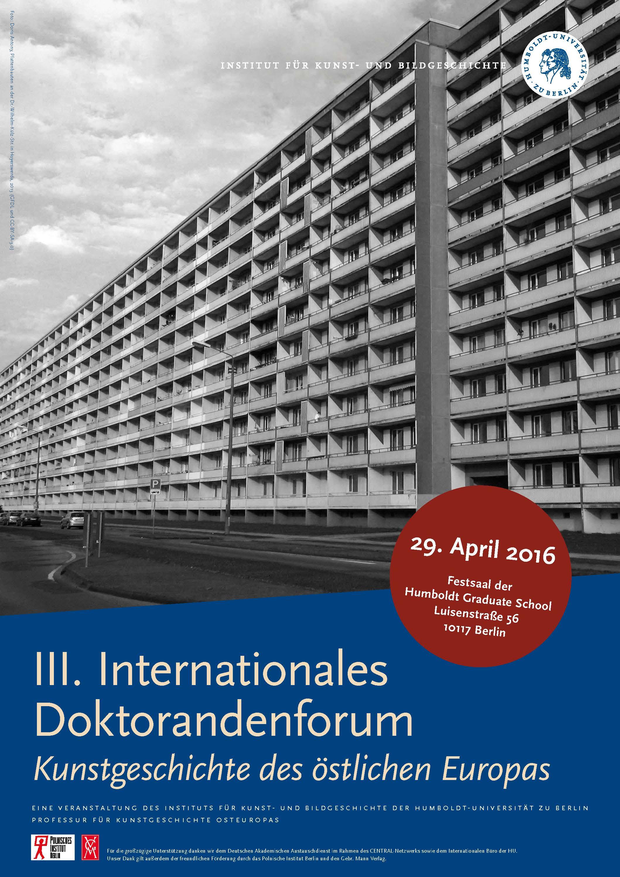 2016 Internationales Doktorandenforum - Institut für Kunst- und ...
