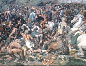 Detail aus der Schlacht an der Milvischen Brücke