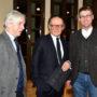 Arnheim Lecture 2020, (v.l.n.r.) Claus-Peter Haase, Peter-Klaus Schuster und Matthias Henkel, Foto Barbara Herrenkind