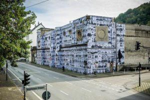 """JR, """"Different Faces - Different Views,"""" Inside Out Project (Wuppertal, 2014) Photo by Daniel Schmitt - JR-art.net"""