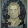 Alt-Kanzlerportrait (Gerhard Schroeder) von Joerg Immendorff, Foto: Barbara Herrenkind