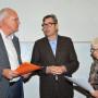 Kolloquium: Attikafiguren HU Berlin, Prof. Dr. Kai Kappel, Prof. Dr. Hartmut Dorgerloh, Saskia Hueneke, Foto: Aila Schultz