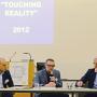 Tagung: Don´t touch touch screen, Steffen Haug, Thomas Hirschhorn , Prof. Hartmut Böhme, April 2015, Foto: Barbara Herrenkind