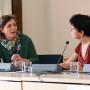 Tagung: New Territories, Dr. Hannah Baader, Prof. Daniéle Méaux, Foto: Aila Schultz
