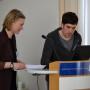 III. Internationales Doktorandenforum: Eva Pluhařová-Grigienė und Janwillem van der Sande, Foto: Olga Potschernina