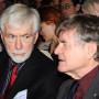 """Bildakt Eröffnungstagung """"Sehen und Handeln"""", Prof. John Michael Krois und Prof. Ian Hacking, Foto: Andreas Baudisch"""