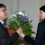 Festveranstaltung, 65. Geburtstag Prof. Dr. Ulrich Reinisch, Prof. Ulrich Reinisch und Marion Hilliges, Foto: Andreas Baudisch
