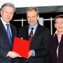 Verleihung - Berliner Wissenschaftspreis, Regierender Bürgermeister von Berlin Klaus Wowereit, Prof. Dr. Horst Bredekamp und Prof. Dr. Dr. h.c. Erika Fischer-Lichte, Foto: Barbara Herrenkind