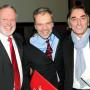 Verleihung - Berliner Wissenschaftspreis, Uwe Trautsch, Prof. Dr. Horst Bredekamp, Jörg Friedrich, Foto: Barbara Herrenkind