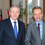 Verleihung - Berliner Wissenschaftspreis, Regierender Bürgermeister von Berlin Klaus Wowereit und Prof. Dr. Horst Bredekamp, Foto: Barbara Herrenkind