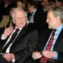 Verleihung - Berliner Wissenschaftspreis, Prof. Dr. med. Dr. h.c. mult. Harald zur Hausen und Prof. Dr. Horst Bredekamp, Foto: Barbara Herrenkind