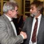 Abschiedsvorlesung, Johannes Helmrath und Arnold Nesselrath, Foto Barbara Herrenkind
